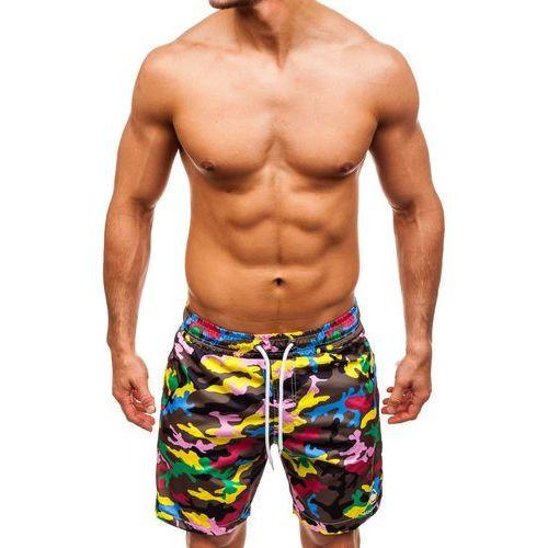 Krótkie spodenki kąpielowe męskie multikolor Denley K1950B, kolor wielokolorowy