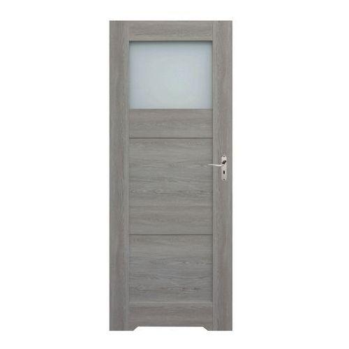 Drzwi z podcięciem do WC Tre 70 lewe dąb szary