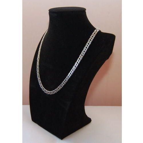 Ekspozytor do prezentacji biżuterii - popiersie zamszowe, czarne, pełne małe, 00694