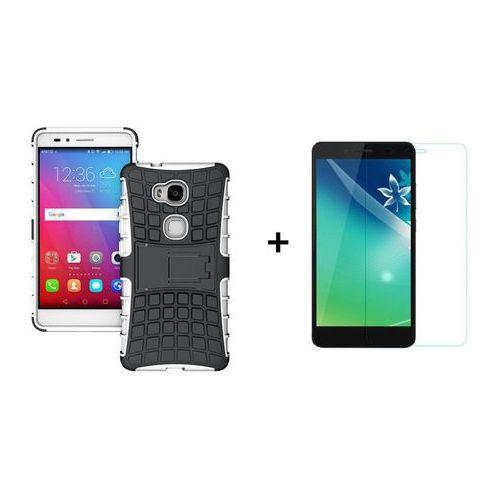 Zestaw | Perfect Armor Biała + Szkło ochronne Perfect Glass dla Huawei Honor 5x