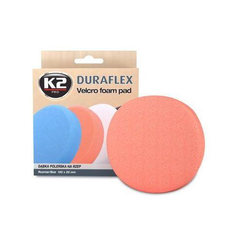 DURAFLEX - pomarańczowa gąbka polerska na rzep gąbka średniościerna, twarda - szt