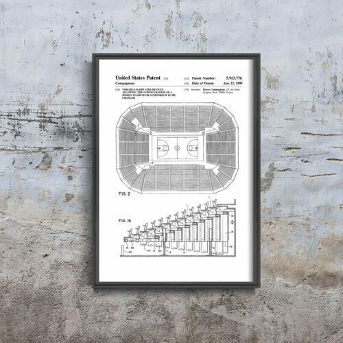 Vintageposteria.pl Plakat w stylu vintage plakat w stylu vintage siedzisko stadionowe patent usa