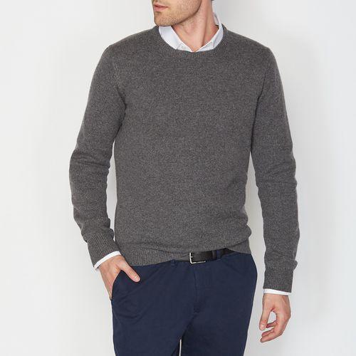 Sweter z okrągłym dekoltem 100% wełny owczej