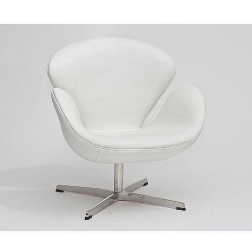 Fotel cup biała skóra 01 marki D2.design