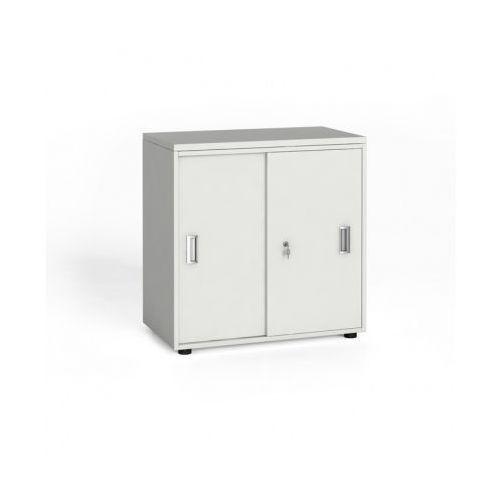 Szafa biurowa z przesuwnymi drzwiami, 740x800x420 mm, biały
