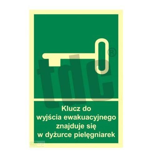 Klucz do wyjścia ewakuacyjnego znajduje się w dyż. pielęgniarek art. ac032 marki Epak