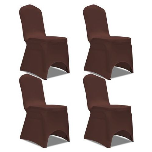 Vidaxl elastyczne pokrowce na krzesło brązowe 4 szt. (8718475978701)