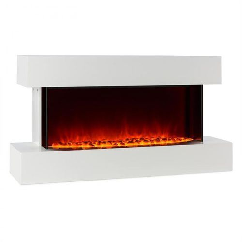 Klarstein studio-2 kominek elektryczny imitacja płomieni led 1000/2000 w 40m²biały