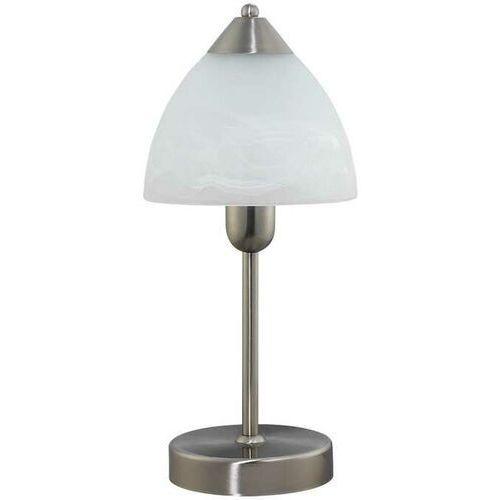 Rabalux Lampa stołowa lampka tristan 1x40w e14 satynowy chrom/biały 7202 (5998250372020)