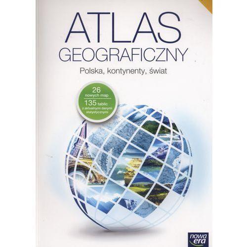 Geografia, klasa 1-3, Atlas geograficzny. Polska, kontynenty, świat, Nowa Era - Dostawa zamówienia do jednej ze 170 księgarni Matras za DARMO
