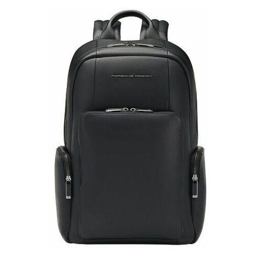 Porsche Design Roadster Plecak skórzana 44 cm przegroda na laptopa black, kolor czarny