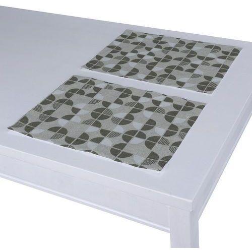 podkładka 2 sztuki, brązowo-beżowe wzory, 40 x 30 cm, wyprzedaż do -50% marki Dekoria