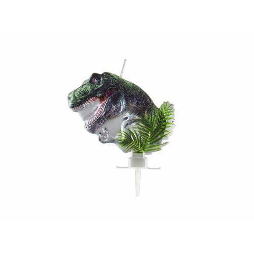 Świeczka urodzinowa metaliczna Dinozaur - cm - 1 szt. (5902973131581)