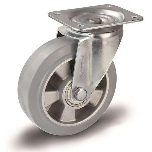 Proroll Elastyczne ogumienie pełne, szare, Ø x szer. kółka 160x50 mm, rolka skrętna. na