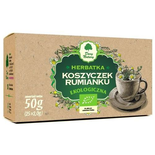 Herbatka z koszyczków rumianku bio (25 x 2 g) - marki Dary natury