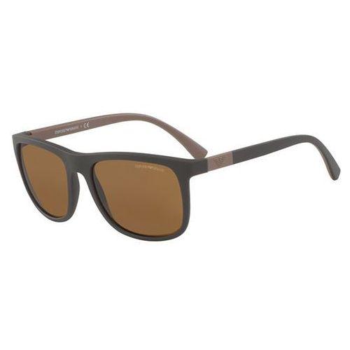 Okulary Słoneczne Emporio Armani EA4079 Polarized 550983, kolor żółty