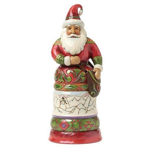 Jim shore Mikołaj czas prezentów regal santa with bag 4042964 figurka ozdoba świąteczna