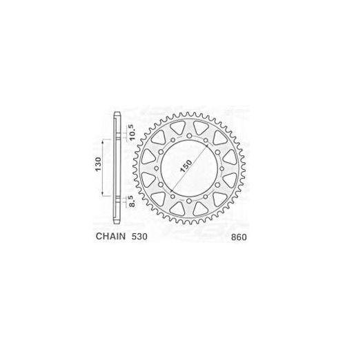 JR ZĘBATKA 860 48 (85948JT) YAMAHA FZS 600 FAZER (98-03) 86048JR