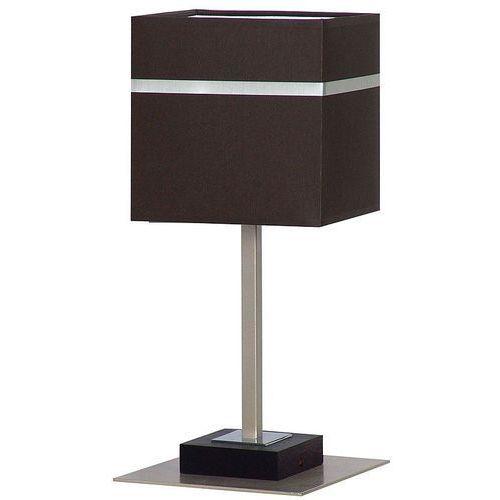 Lampa lampka oprawa stołowa Luminex Nuta 1x60W E27 brązowy/chrom 4837