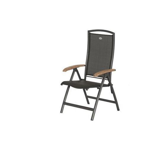 Krzesło ogrodowe w kolorze xerix/black grey | Raffaelo | podłokietniki z drewna tekowego (62206210)