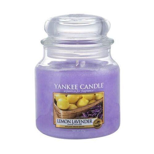 Yankee Candle Lemon Lavender aromatyczna świeca zapachowa słoik średni 411 g (5038580000368)