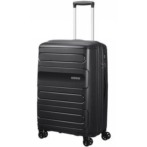 American tourister sunside średnia poszerzana walizka 67,5 cm / czarna - black