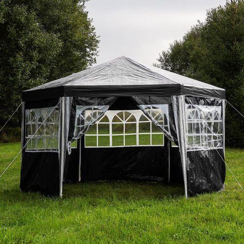 Mks Czarny pawilon namiot ogrodowy handlowy 6 ścianek - czarny