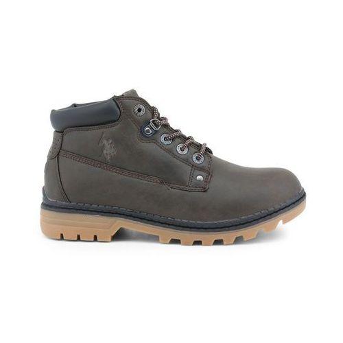 Buty do kostki botki męskie U.S. POLO - ZIGGY4127W8-58, kolor beżowy
