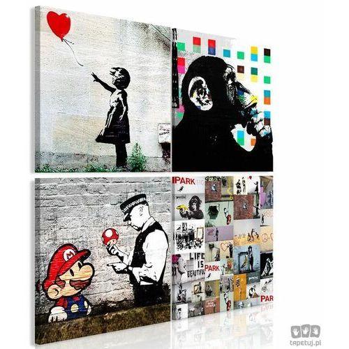Obraz Kolaż Banksy (4-częściowy), A0-N8178_opcje