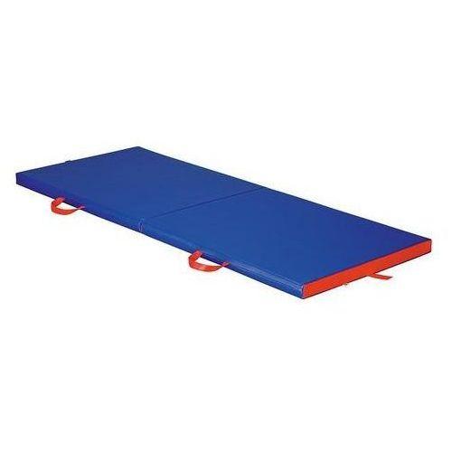 Materac do ćwiczeń i rehabilitacji, dwuczęściowy składany 170x65x5 cm
