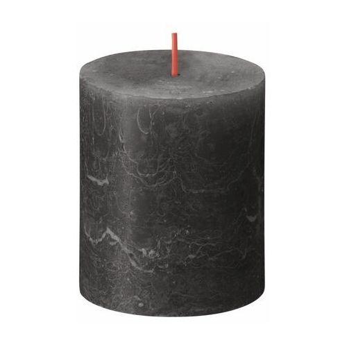 Bolsius Świeca pieńkowa rustic shine ciemnoszara wys. 8 cm