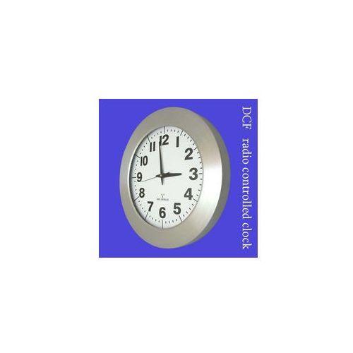 Zegar aluminiowy szeroka ramka radiowy DCF #1, AL2412RC