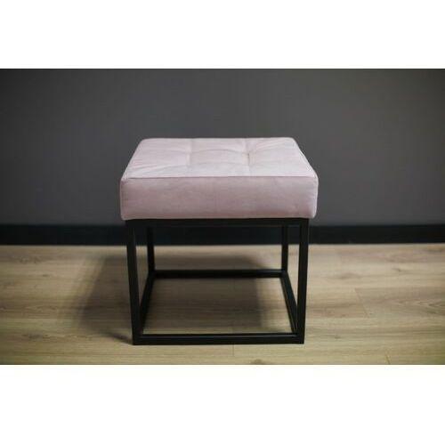 Siedzisko, ławka metalowa z pikowaniem SIGI45 różowa