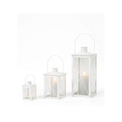 """Komplet lampionów """"rom"""" (3 części) biały marki Bonprix"""