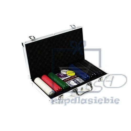 Poker set 300 szt żetonów z akcesoriami