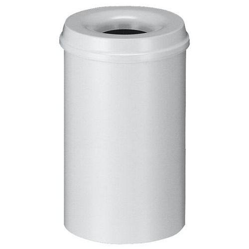 Vepa bins Kosz na papier, samogaszący, poj. 20 l, korpus szary / głowica gasząca szara. pr
