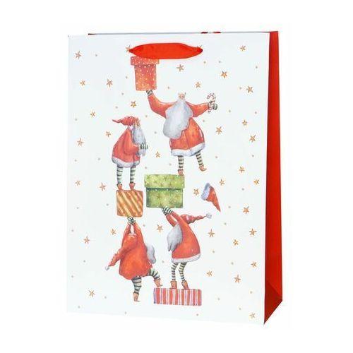Torebka na prezenty Santa presents 12 x 30 cm