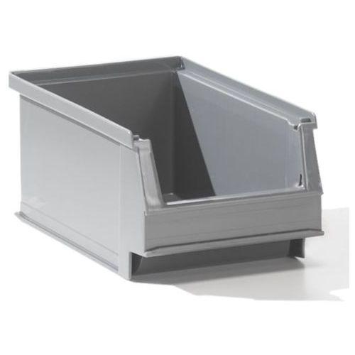 Lockweiler plastic werke Przejrzysty pojemnik magazynowy z recyrkulowanego pe, poj. 0,8 l, szary, opak. 5