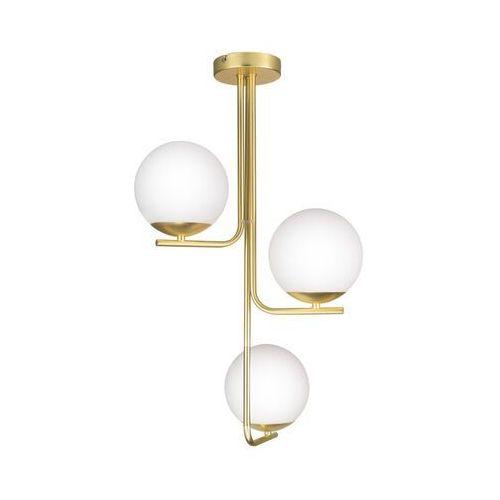 Lampa wisząca GoodHome Baldaz 3-punktowa E14 mosiądz (5036581096175)