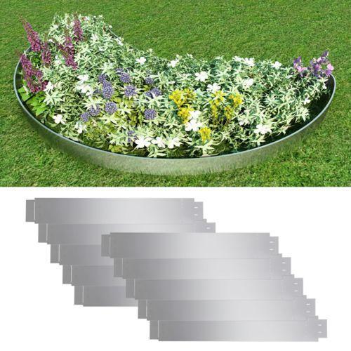 zestaw 10 elastycznych obrzeży ogrodowych, stalowych, 100 x 15 cm marki Vidaxl