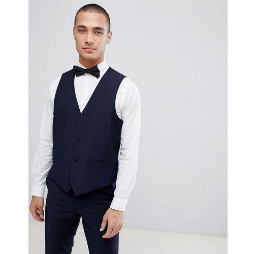 slim fit peak collar tuxedo waistcoat - navy, French connection