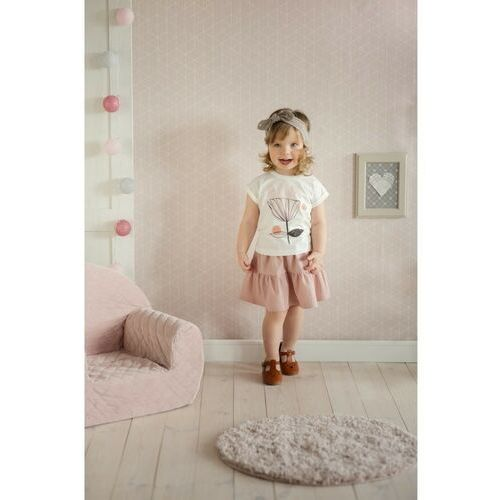 Pinokio T-shirt niemowlęcy ecru z nadrukiem 6i38al