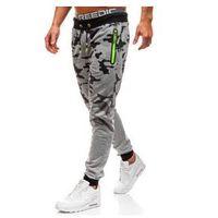 J.style Spodnie męskie dresowe joggery moro-szare denley kk512