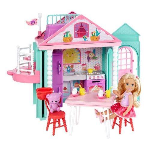 Brb domek+lalka chelsea dwj50 wb4 marki Mattel