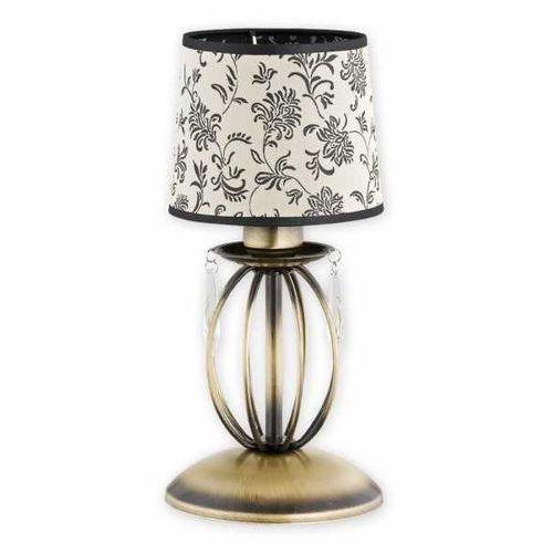 Lemir Agila O2488 L1 PAT lampka stołowa 1x60W E27 patyna / beżowy