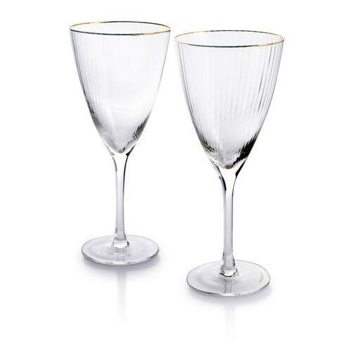 Mada gold kpl. 2 kieliszków do wina 420ml 9.8x8xh22cm marki Sofa.pl