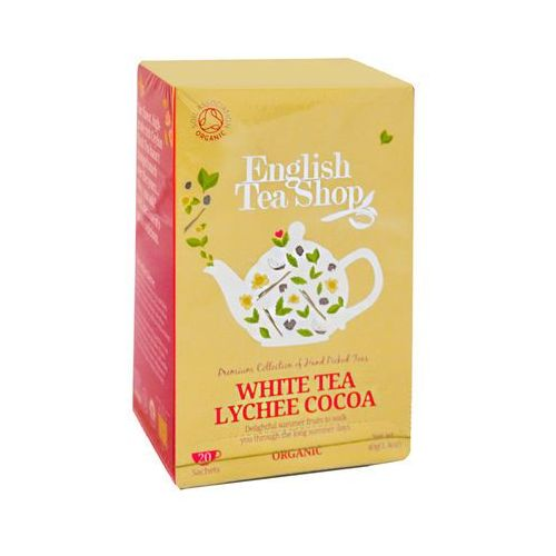 Ets white tea lychee cocoa 20 saszetek marki English tea shop