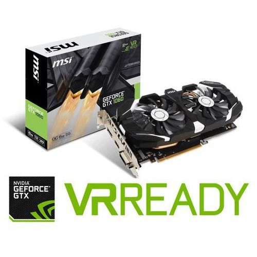 Karta VGA MSI GTX1060 6GT OCV1 6GB GDDR5 192bit DVI+HDMI+DP PCIe3.0, V809-2234R