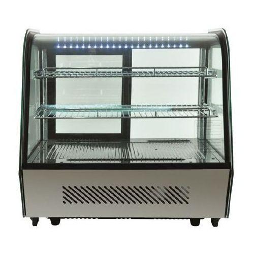Resto quality Witryna chłodnicza   czarna   led   120l   707x568x(h)686mm