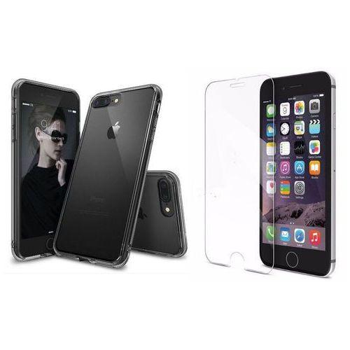 Zestaw | Rearth Ringke Fusion Smoke Black | Obudowa + Szkło ochronne Perfect Glass dla modelu Apple iPhone 7 Plus